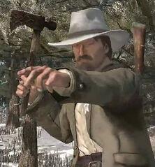 Heath with tomahawk