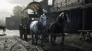 RDR 2 Shires on Wagon