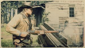 Arthur with BOLT-ACTION RIFLE RDR2
