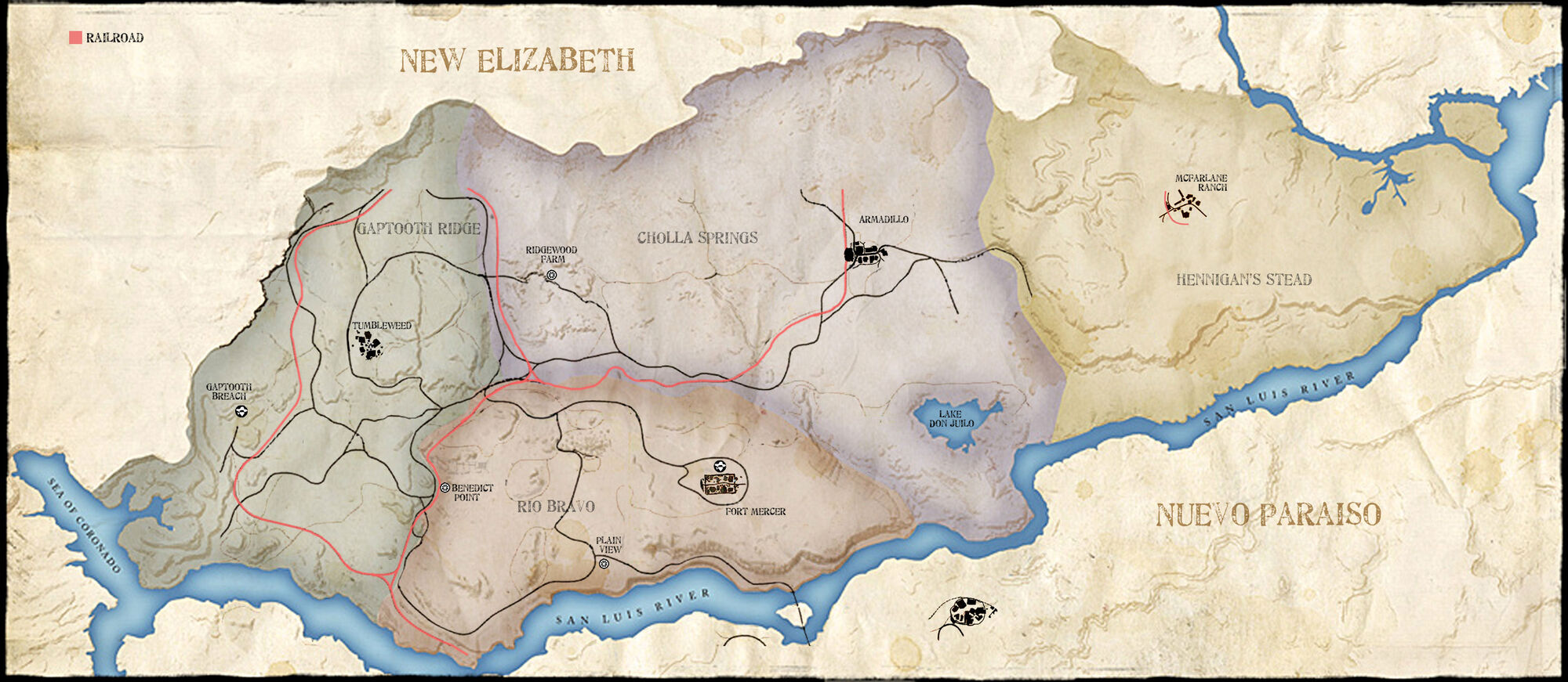 Red Dead Redemption Us Map.Map In Redemption Red Dead Wiki Fandom Powered By Wikia