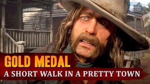 Red Dead Redemption 2 - Mission 40 - A Short Walk in a Pretty Town Gold Medal