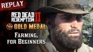 RDR2 PC - Mission 86 - Farming, for Beginners Replay & Gold Medal