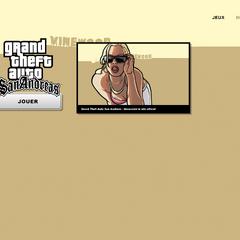 Page de lancement de <i>Grand Theft Auto San Andreas</i>