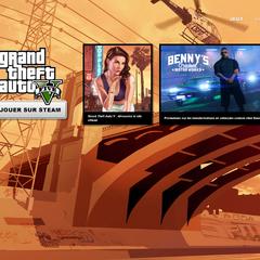 Page de lancement de <i>Grand Theft Auto V</i>