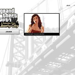 Page de lancement de <i>Grand Theft Auto IV: The Complete Edition</i>