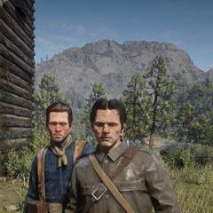 Deux soldats à la porte