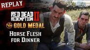 RDR2 PC - Mission 36 - Horse Flesh for Dinner Replay & Gold Medal