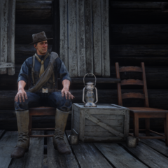 Un soldat assis