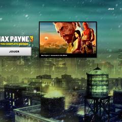 Page de lancement de <i>Max Payne 3</i>