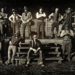 L'ancienne bande de Dutch en 1899, de gauche à droite en partant du haut: <a href=