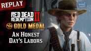 RDR2 PC - Mission 96 - An Honest Day's Labors Replay & Gold Medal