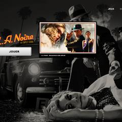 Page de lancement de <i>L.A. Noire</i>
