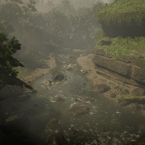 La cascade près de la ville