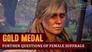 Red Dead Redemption 2 - Mission 25 - Further Questions of Female Suffrage Gold Medal