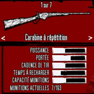 Présentation de l'arme en jeu