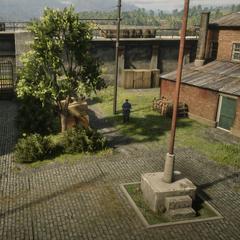 Une vue depuis la sixième tour de garde