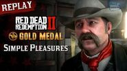 RDR2 PC - Mission 85 - Simple Pleasures Replay & Gold Medal