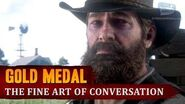 Red Dead Redemption 2 - Mission 77 - The Fine Art of Conversation Gold Medal