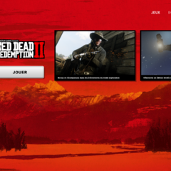Page de lancement de <i>Red Dead Redemption II</i>