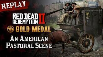 RDR2 PC - Mission 22 - An American Pastoral Scene Replay & Gold Medal