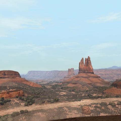 Trois des quatre formations rocheuses