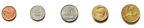 New Zealand dollar coins May 2011