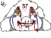 144235 UNOPT fluffy-pony blood fluffy-pony-grimdark gore abuse artist-chaoticlaughter