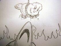 124711 UNOPT fluffy-pony fluffy-pony-original-art fluffy-pony-grimdark fire abuse shark