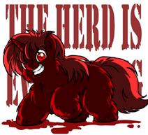 115869 UNOPT fluffy-pony blood fluffy-pony-grimdark artist-marcusmaximus