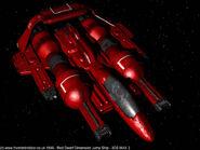 Red-dwarf-dimension-jump-ship
