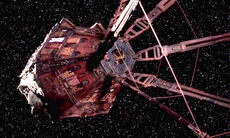 The Red Dwarf sapce ship as seen in series 10