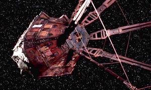 The Red Dwarf sapce ship as seen in series 10