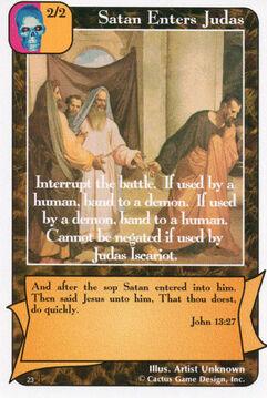 Satan Enters Judas (Di)
