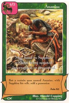 Ananias - Apostles