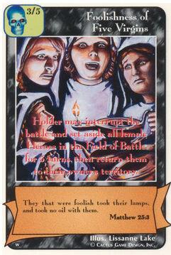 Foolishness of Five Virgins - Women