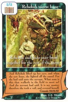 Rebekah meets Isaac - Patriarchs