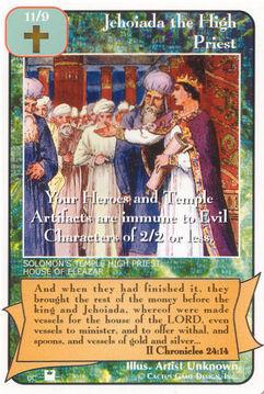 Jehoiada the High Priest (Pi) - Priests