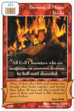 Burning of Magic Books - Apostles