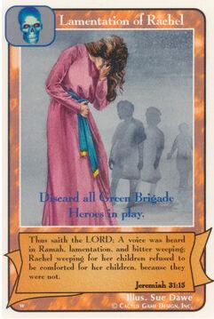 Lamentation of Rachel - Women