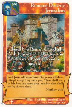 Romans Destroy Jerusalem - Rock of Ages