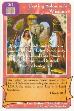 Testing Solomon's Wisdom (RA)