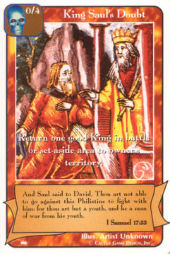 King Saul's Doubt - Kings