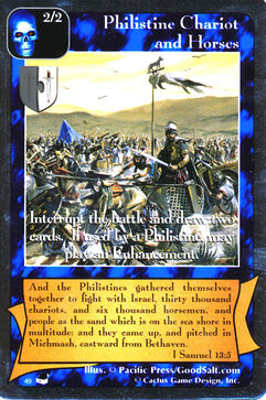 Philistine Chariot and Horses - Thesaurus