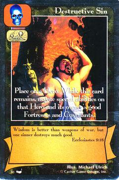 Destructive Sin - Thesaurus