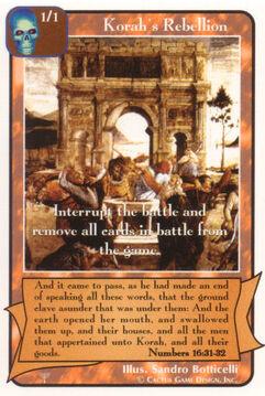 Korah's Rebellion - Patriarchs