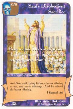 Saul's Disobedient Sacrifice (Pi) - Priests