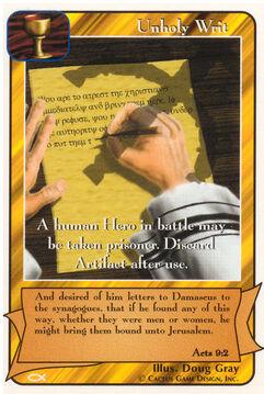 Unholy Writ - Apostles