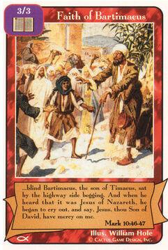 Faith of Bartimaeus - Apostles