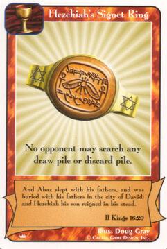 Hezekiah's Signet Ring - Kings