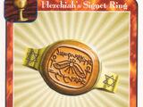 Hezekiah's Signet Ring (Ki)